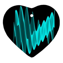 Wave Pattern Vector Design Ornament (heart)