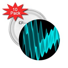 Wave Pattern Vector Design 2 25  Buttons (10 Pack)