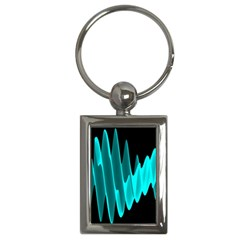 Wave Pattern Vector Design Key Chains (rectangle)  by Nexatart