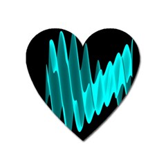 Wave Pattern Vector Design Heart Magnet by Nexatart