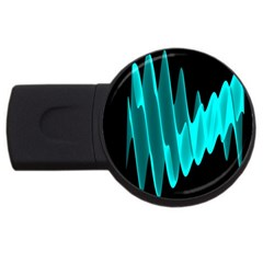 Wave Pattern Vector Design Usb Flash Drive Round (4 Gb)