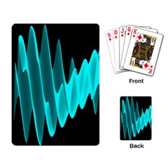 Wave Pattern Vector Design Playing Card