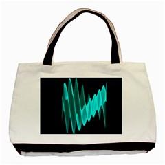 Wave Pattern Vector Design Basic Tote Bag by Nexatart