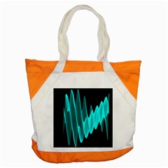Wave Pattern Vector Design Accent Tote Bag