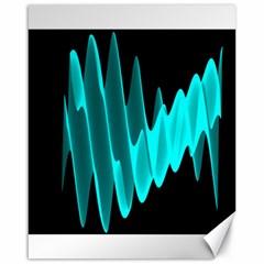 Wave Pattern Vector Design Canvas 16  X 20   by Nexatart