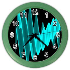 Wave Pattern Vector Design Color Wall Clocks by Nexatart