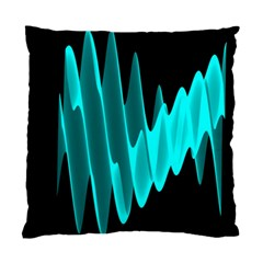 Wave Pattern Vector Design Standard Cushion Case (two Sides) by Nexatart