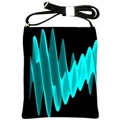Wave Pattern Vector Design Shoulder Sling Bags