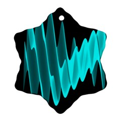 Wave Pattern Vector Design Ornament (snowflake)