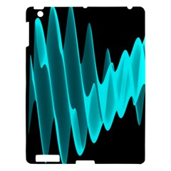 Wave Pattern Vector Design Apple Ipad 3/4 Hardshell Case by Nexatart
