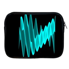 Wave Pattern Vector Design Apple Ipad 2/3/4 Zipper Cases by Nexatart