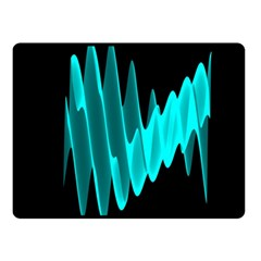 Wave Pattern Vector Design Double Sided Fleece Blanket (small)