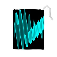 Wave Pattern Vector Design Drawstring Pouches (large)