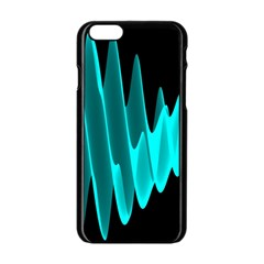 Wave Pattern Vector Design Apple Iphone 6/6s Black Enamel Case by Nexatart