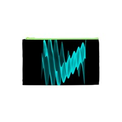 Wave Pattern Vector Design Cosmetic Bag (xs)