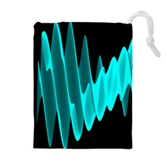 Wave Pattern Vector Design Drawstring Pouches (extra Large) by Nexatart