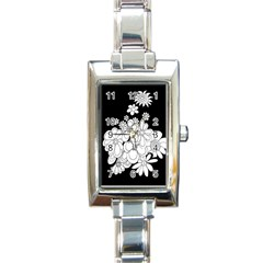 Mandala Calming Coloring Page Rectangle Italian Charm Watch