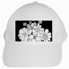 Mandala Calming Coloring Page White Cap by Nexatart