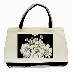 Mandala Calming Coloring Page Basic Tote Bag by Nexatart