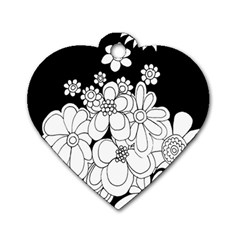 Mandala Calming Coloring Page Dog Tag Heart (two Sides)