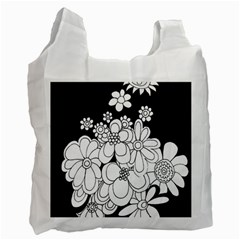 Mandala Calming Coloring Page Recycle Bag (one Side)