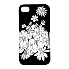 Mandala Calming Coloring Page Apple Iphone 4/4s Hardshell Case With Stand by Nexatart