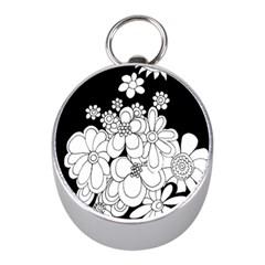 Mandala Calming Coloring Page Mini Silver Compasses by Nexatart