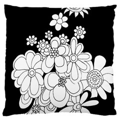 Mandala Calming Coloring Page Large Flano Cushion Case (two Sides) by Nexatart