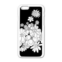 Mandala Calming Coloring Page Apple Iphone 6/6s White Enamel Case by Nexatart