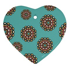 Circle Vector Background Abstract Ornament (heart) by Nexatart