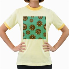 Circle Vector Background Abstract Women s Fitted Ringer T Shirts