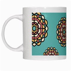 Circle Vector Background Abstract White Mugs by Nexatart