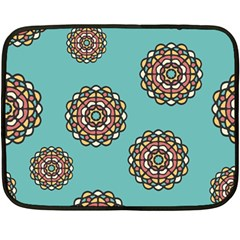 Circle Vector Background Abstract Double Sided Fleece Blanket (mini)  by Nexatart