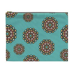 Circle Vector Background Abstract Cosmetic Bag (xl)