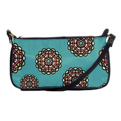 Circle Vector Background Abstract Shoulder Clutch Bags by Nexatart