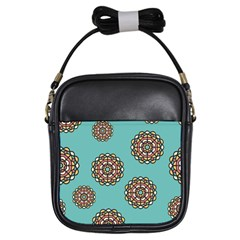 Circle Vector Background Abstract Girls Sling Bags by Nexatart