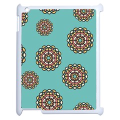 Circle Vector Background Abstract Apple Ipad 2 Case (white) by Nexatart