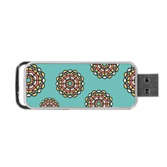 Circle Vector Background Abstract Portable Usb Flash (two Sides) by Nexatart