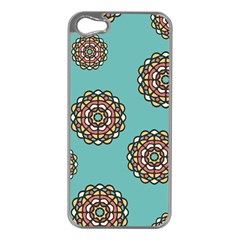 Circle Vector Background Abstract Apple Iphone 5 Case (silver) by Nexatart