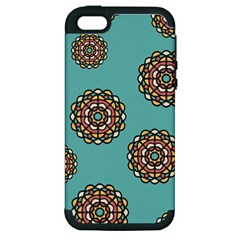 Circle Vector Background Abstract Apple Iphone 5 Hardshell Case (pc+silicone) by Nexatart