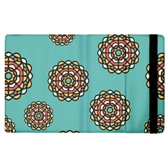Circle Vector Background Abstract Apple Ipad 2 Flip Case by Nexatart