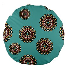 Circle Vector Background Abstract Large 18  Premium Round Cushions by Nexatart