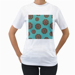 Circle Vector Background Abstract Women s T Shirt (white)