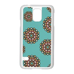 Circle Vector Background Abstract Samsung Galaxy S5 Case (white) by Nexatart
