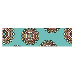 Circle Vector Background Abstract Satin Scarf (oblong)