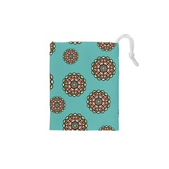Circle Vector Background Abstract Drawstring Pouches (xs)