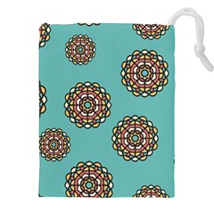 Circle Vector Background Abstract Drawstring Pouches (xxl)