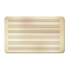 Notenblatt Paper Music Old Yellow Magnet (rectangular)