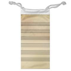Notenblatt Paper Music Old Yellow Jewelry Bag