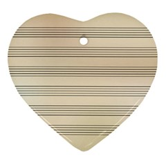 Notenblatt Paper Music Old Yellow Heart Ornament (two Sides) by Nexatart